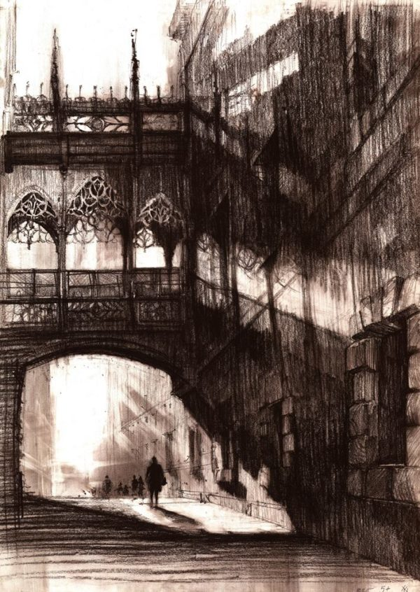 Rysunek kredką sangwiną Adela Woźnica