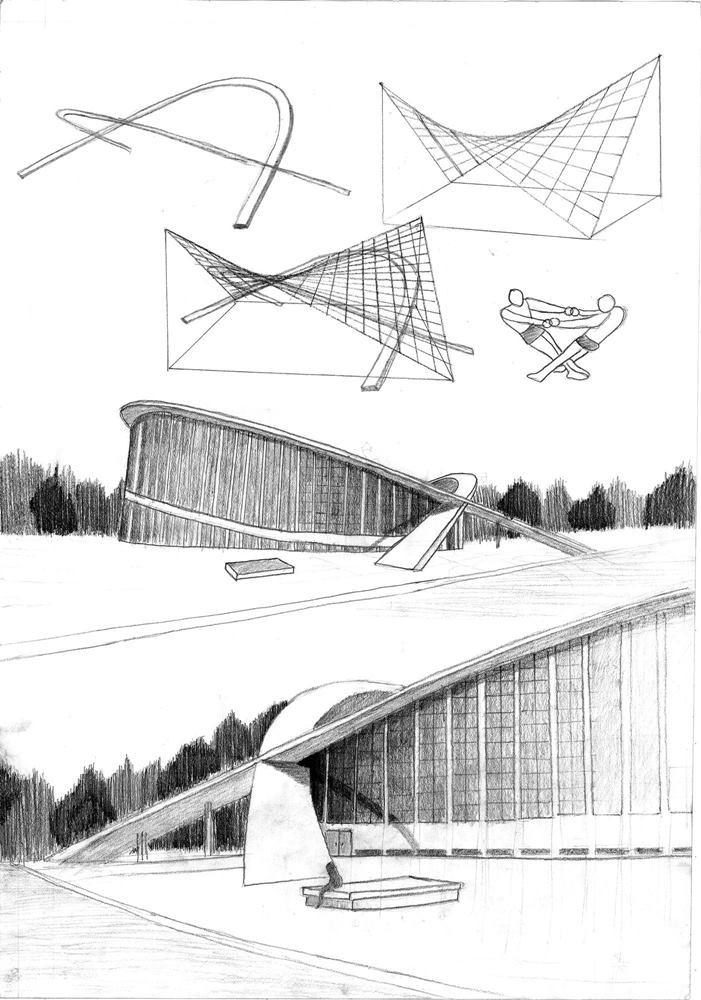 rysunkowe portfolio na architekturę