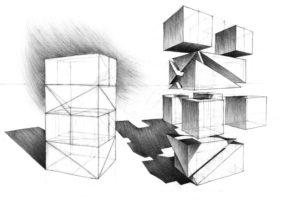 Rysunek w perspektywie kreatywność geometryczna