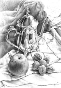 Wybitny rysunek ołówkiem - martwa natura