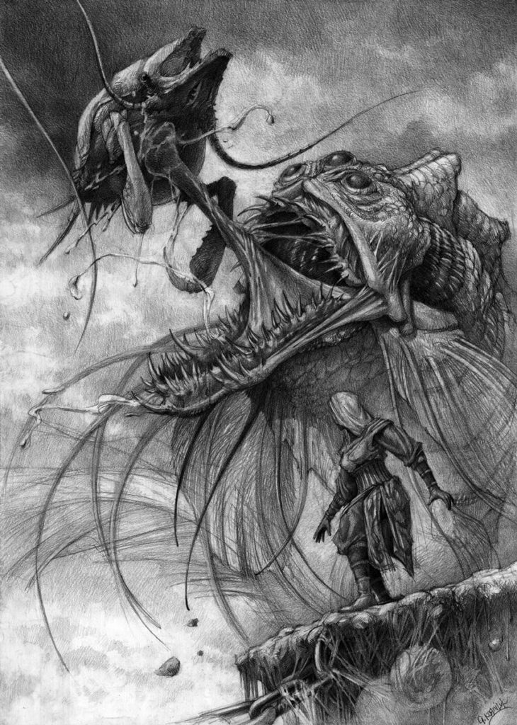 ilustracja rysowana ołówkiem